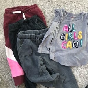 Cat and jack lot 2t girl jogger bundle